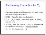 partitioning tracer test for s n