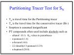 partitioning tracer test for s n23