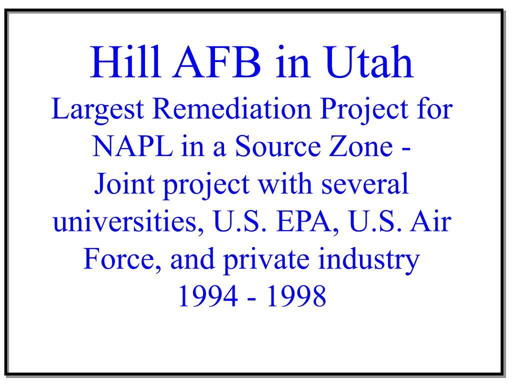 Hill AFB in Utah