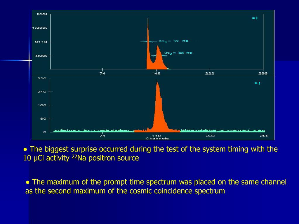 ● The biggest surprise occurred during the test of the system timing with the