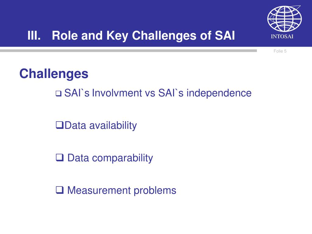 Role and Key Challenges of SAI