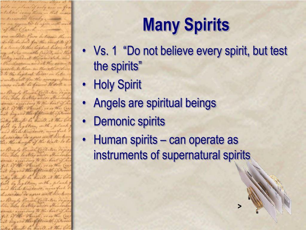 Many Spirits