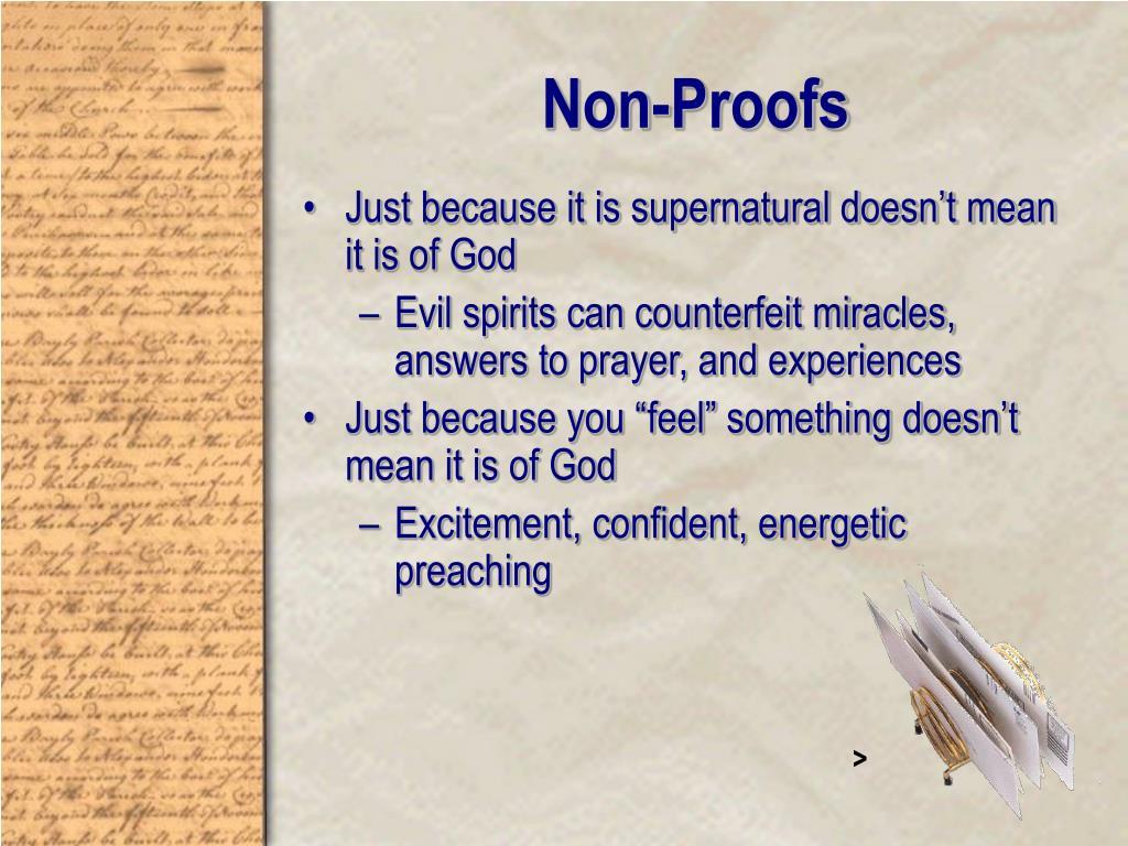 Non-Proofs