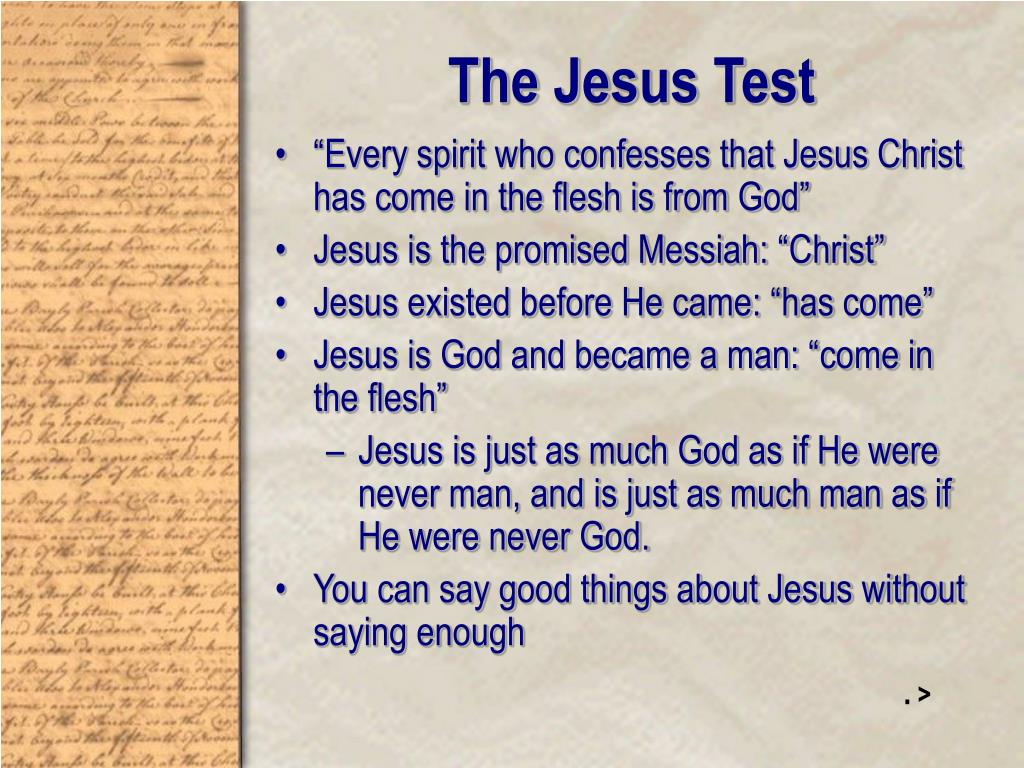 The Jesus Test