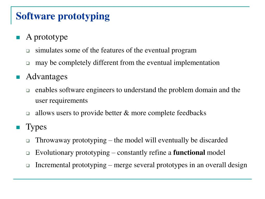 Software prototyping