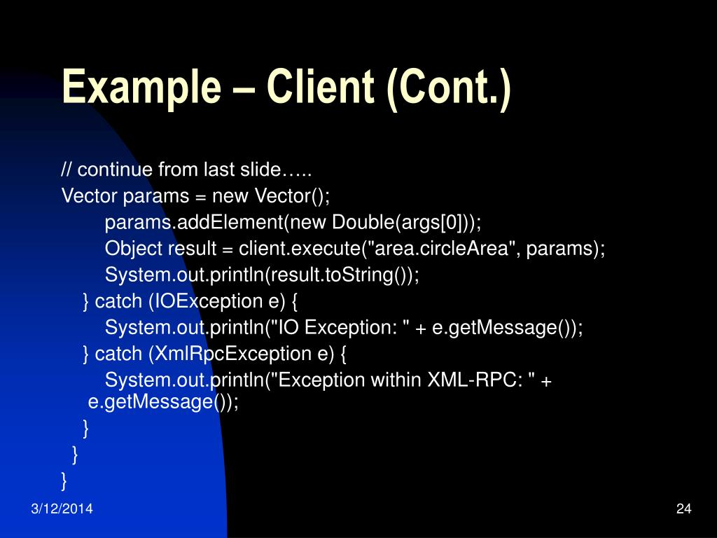 Example – Client (Cont.)