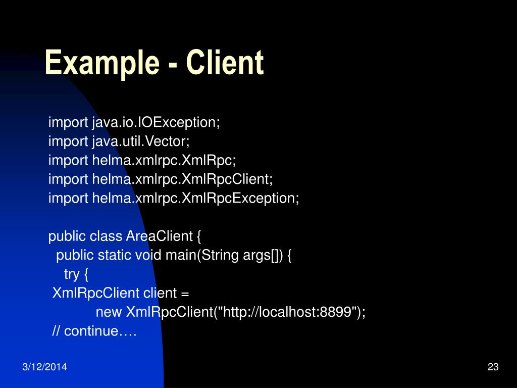 Example - Client