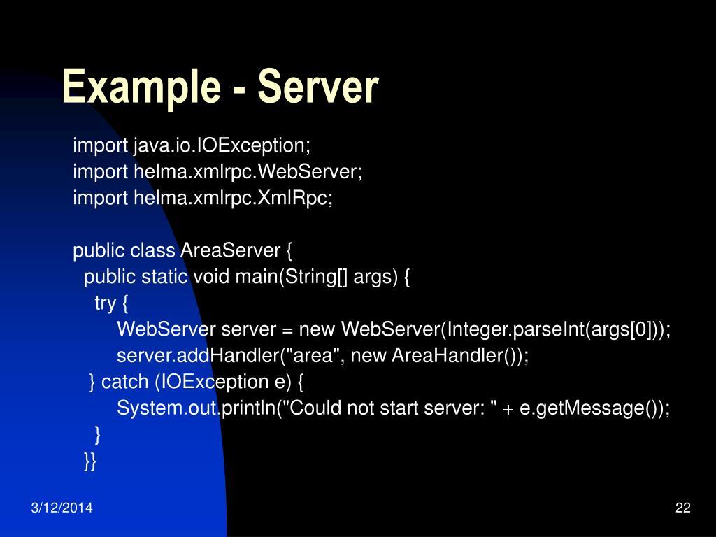 Example - Server