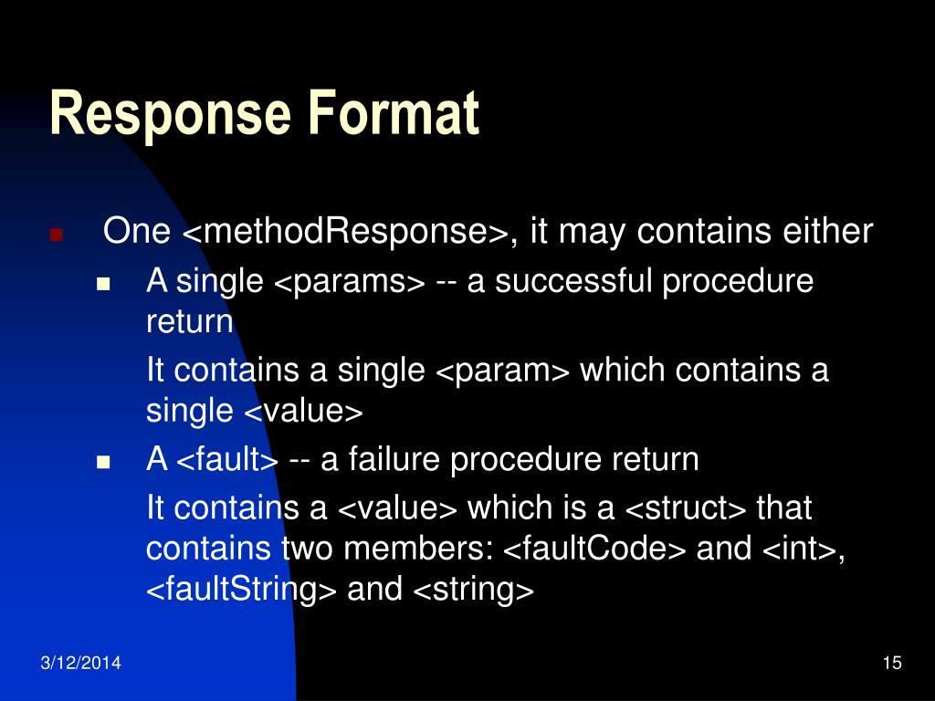 Response Format