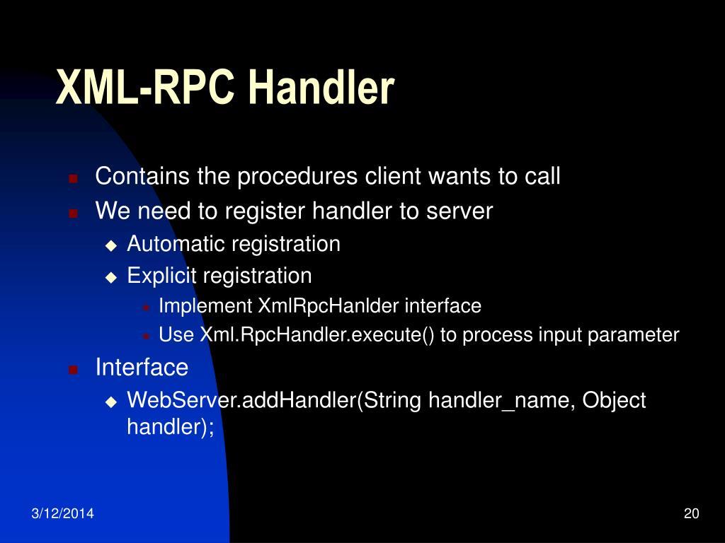 XML-RPC Handler