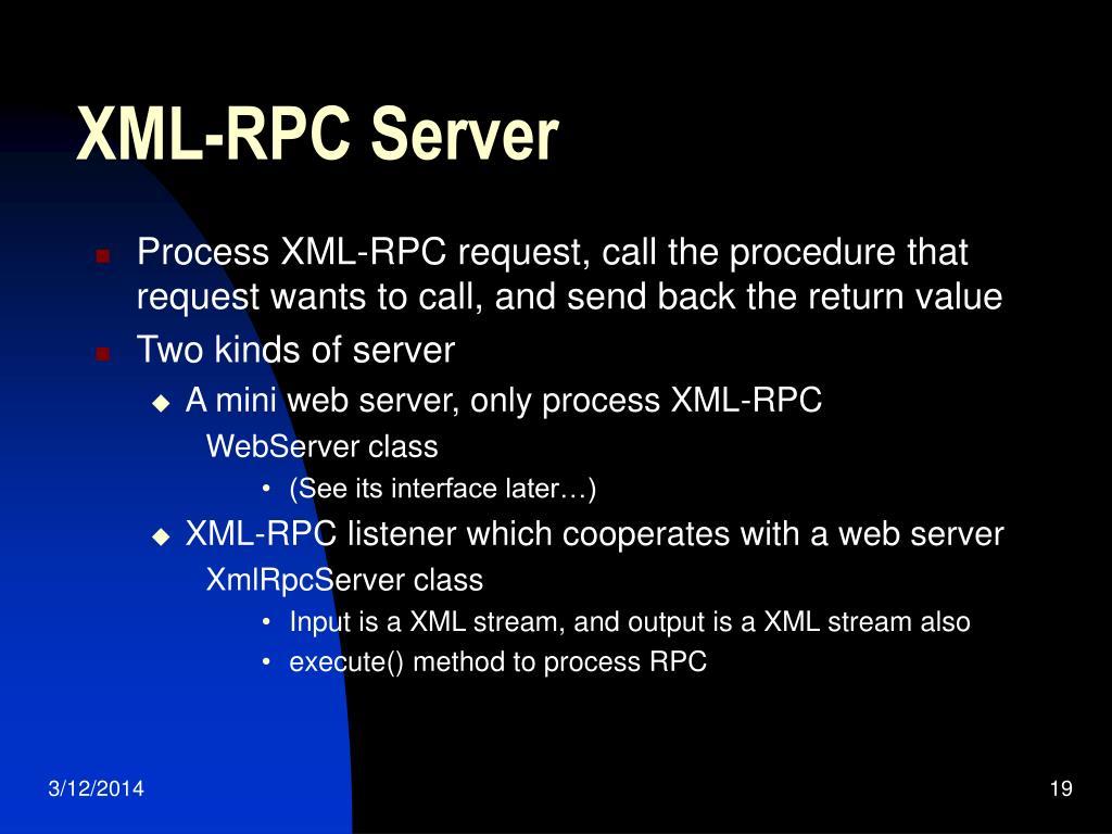 XML-RPC Server