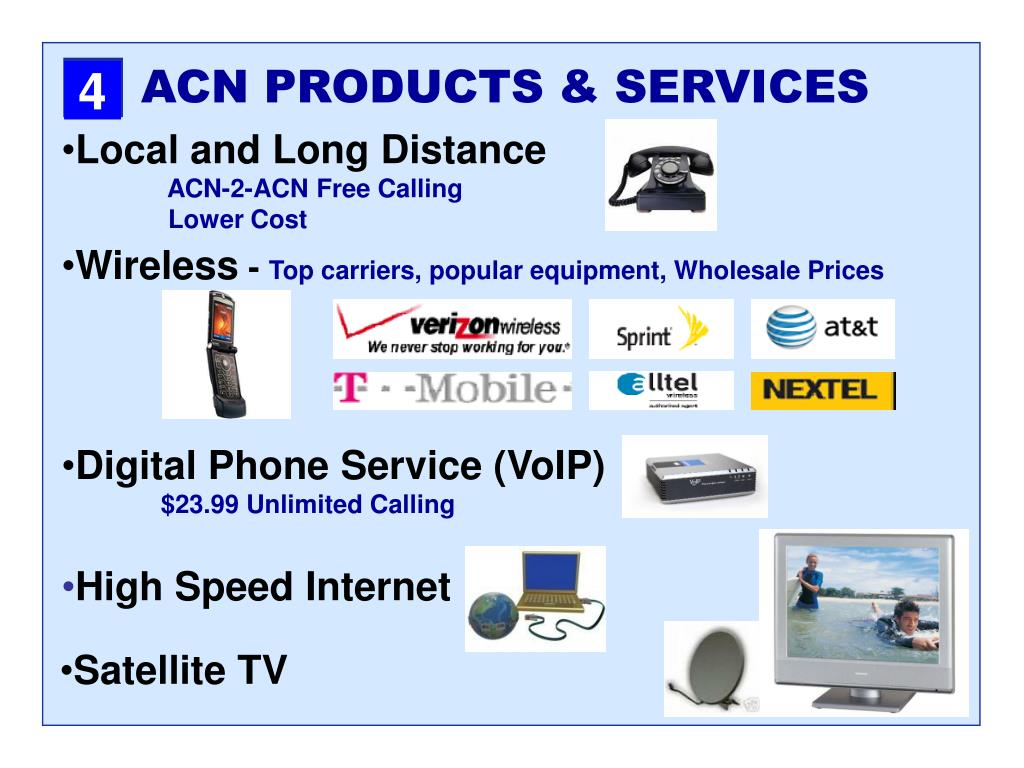 ACN PRODUCTS & SERVICES