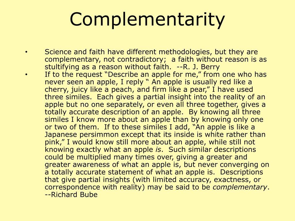 Complementarity