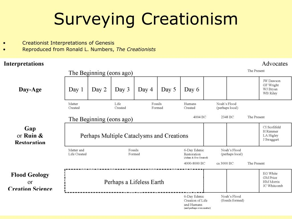 Surveying Creationism