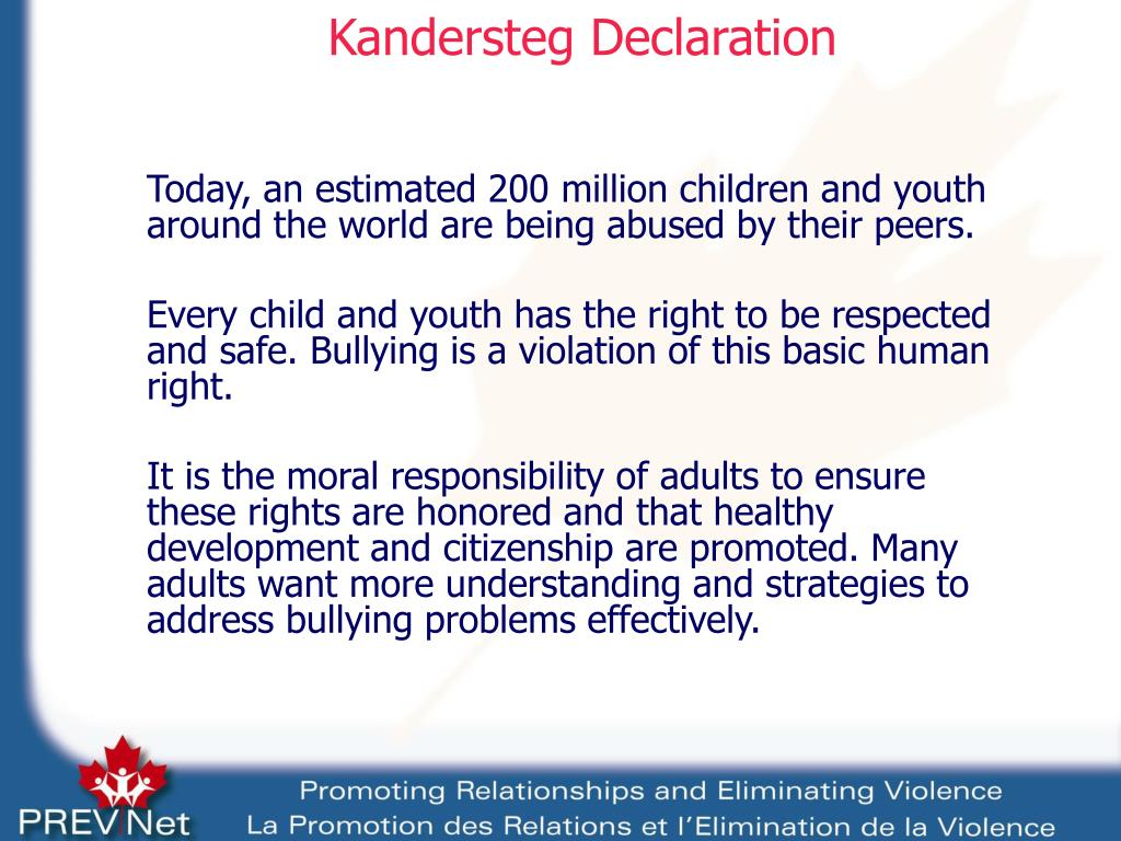 Kandersteg Declaration