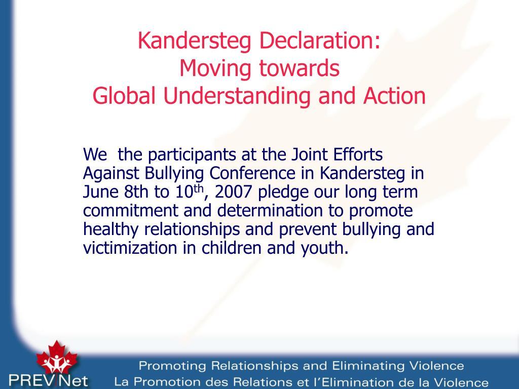 Kandersteg Declaration:
