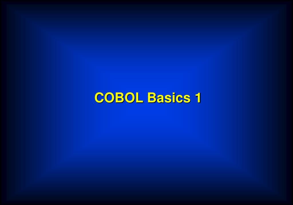 COBOL Basics 1