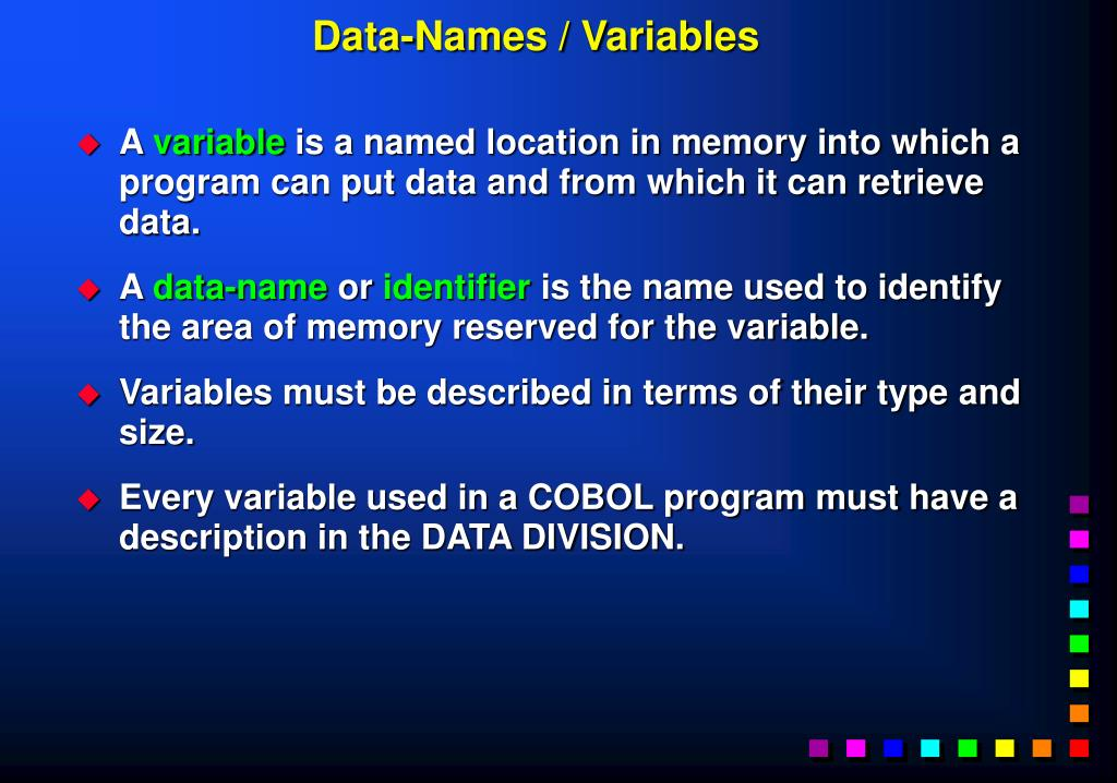 Data-Names / Variables