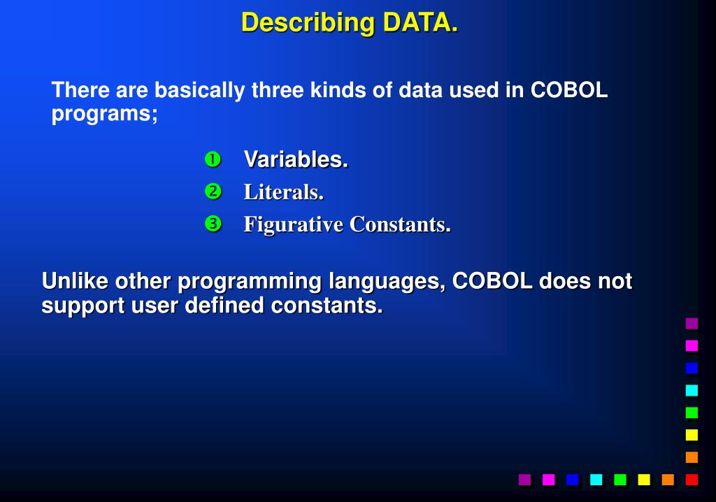 Describing DATA.