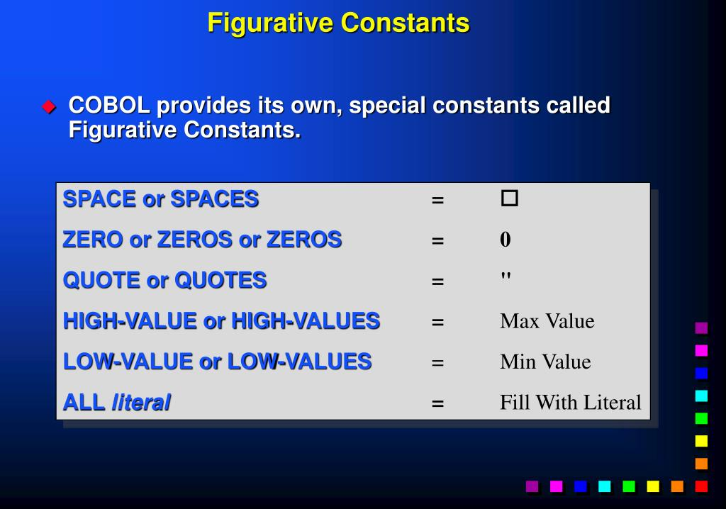 Figurative Constants