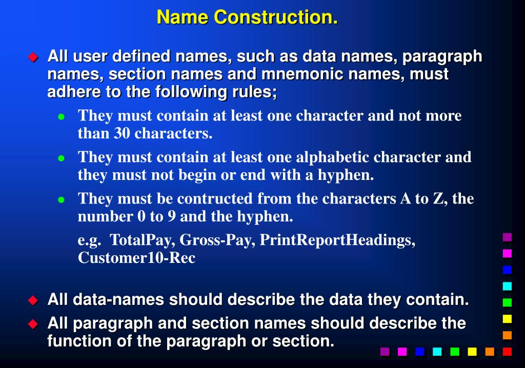 Name Construction.