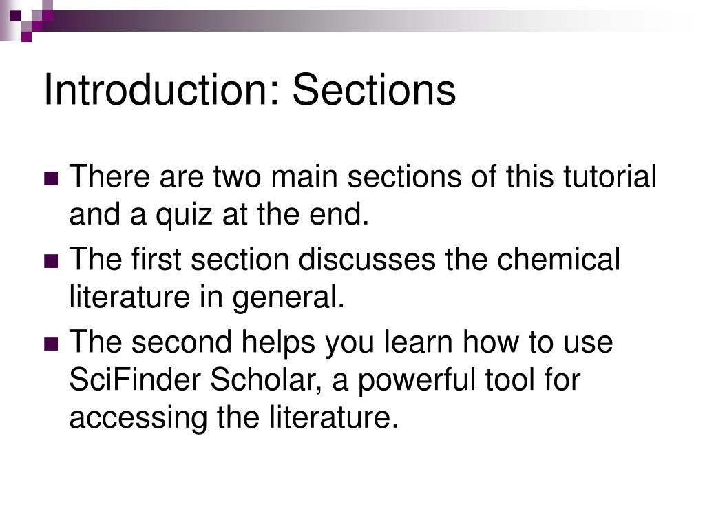 Introduction: Sections