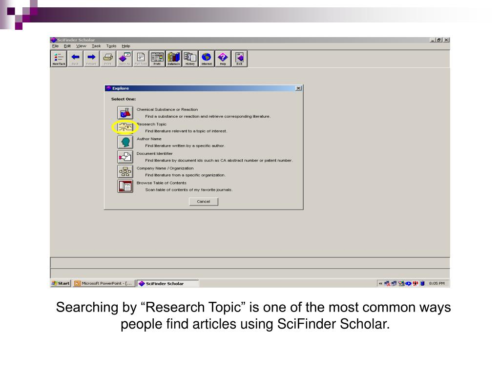 "Searching by ""Research Topic"" is one of the most common ways"