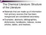the chemical literature structure of the literature10