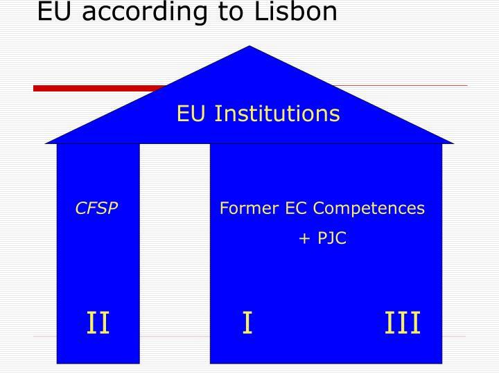 EU according to Lisbon