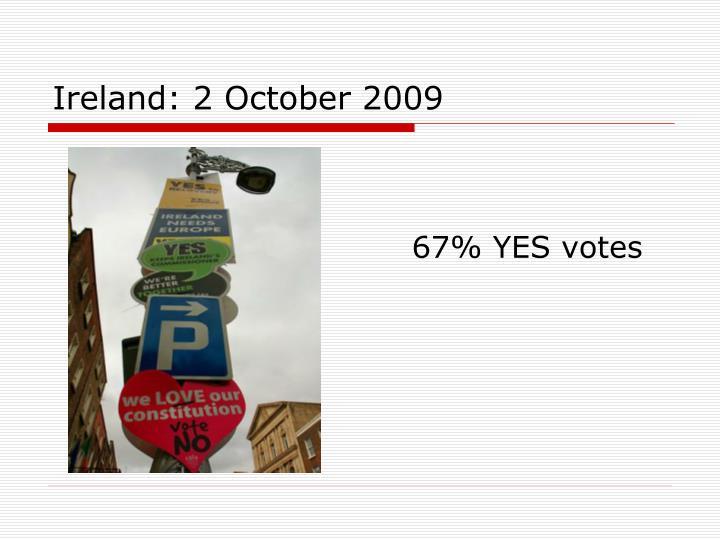Ireland: 2 October 2009