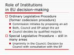 role of institutions in eu decision making