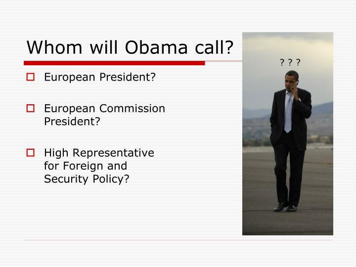 European President?