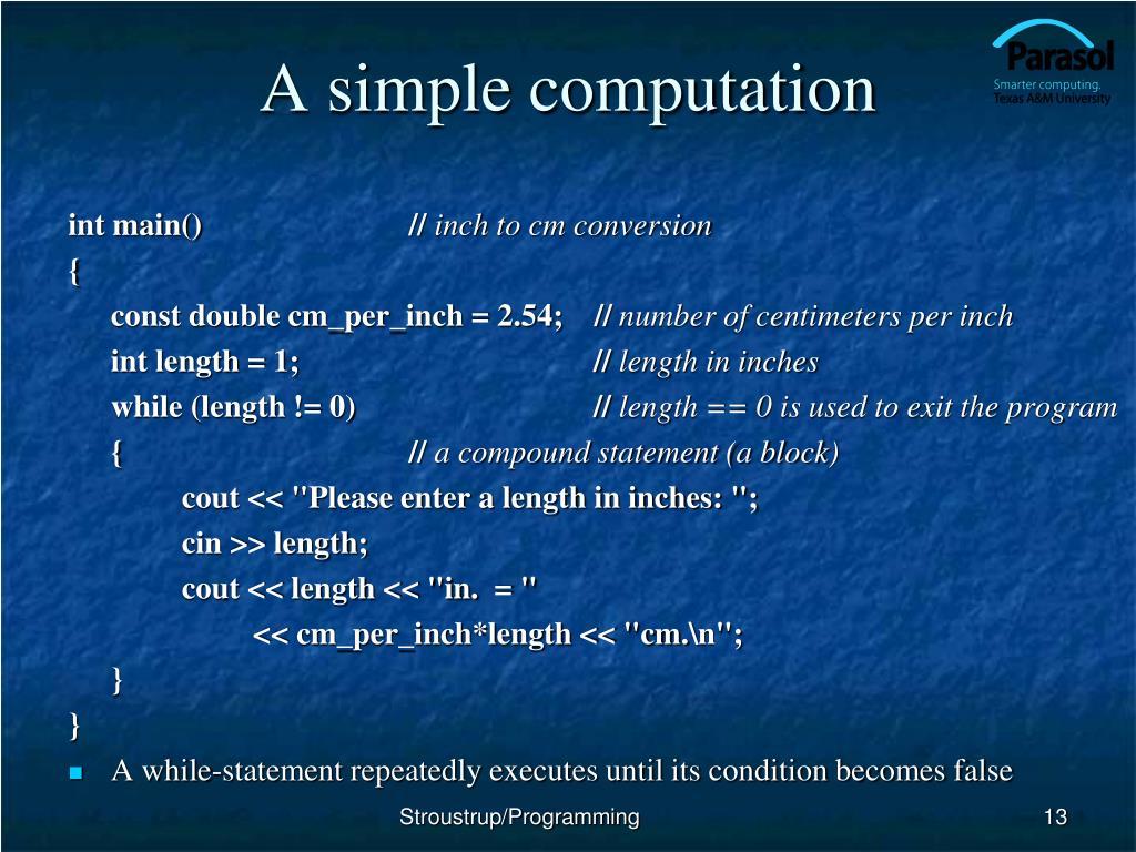 A simple computation