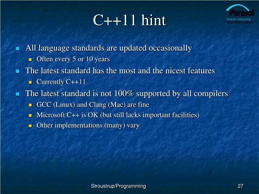 C++11 hint
