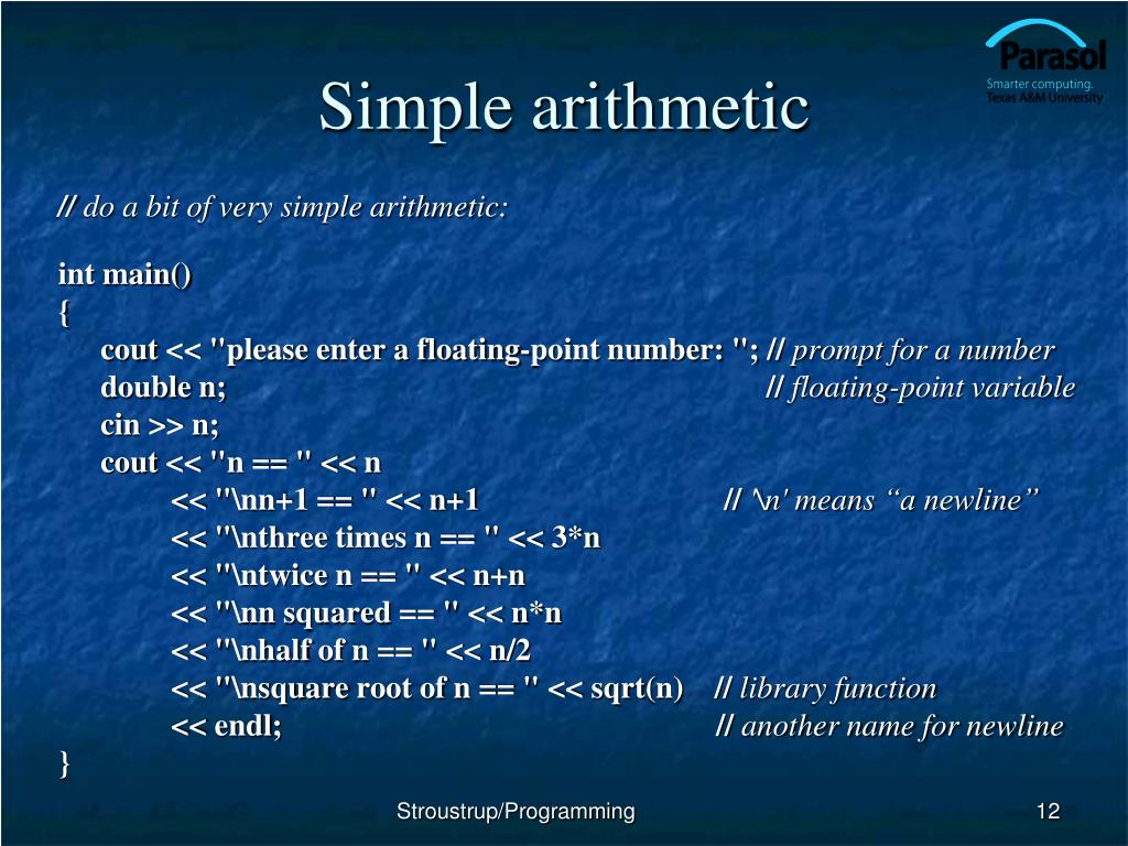 Simple arithmetic