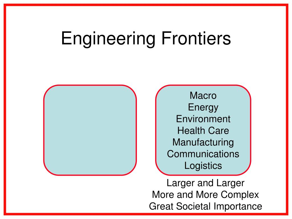 Engineering Frontiers
