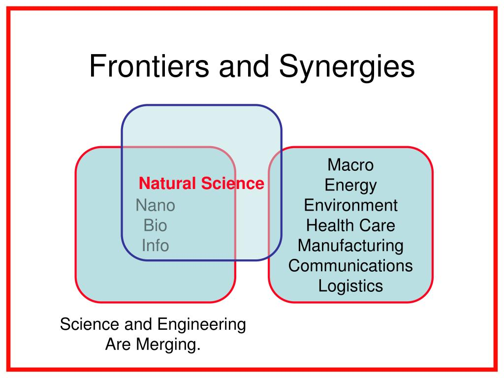 Frontiers and Synergies