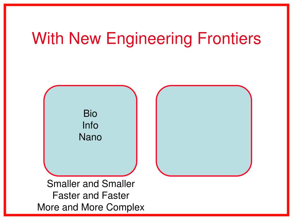 With New Engineering Frontiers