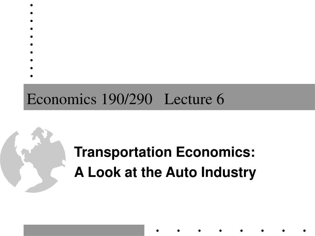 Economics 190/290   Lecture 6