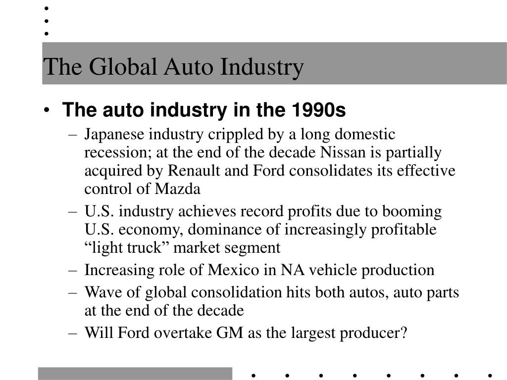 The Global Auto Industry