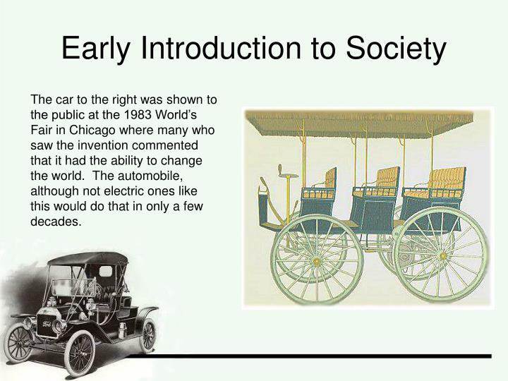 Early introduction to society