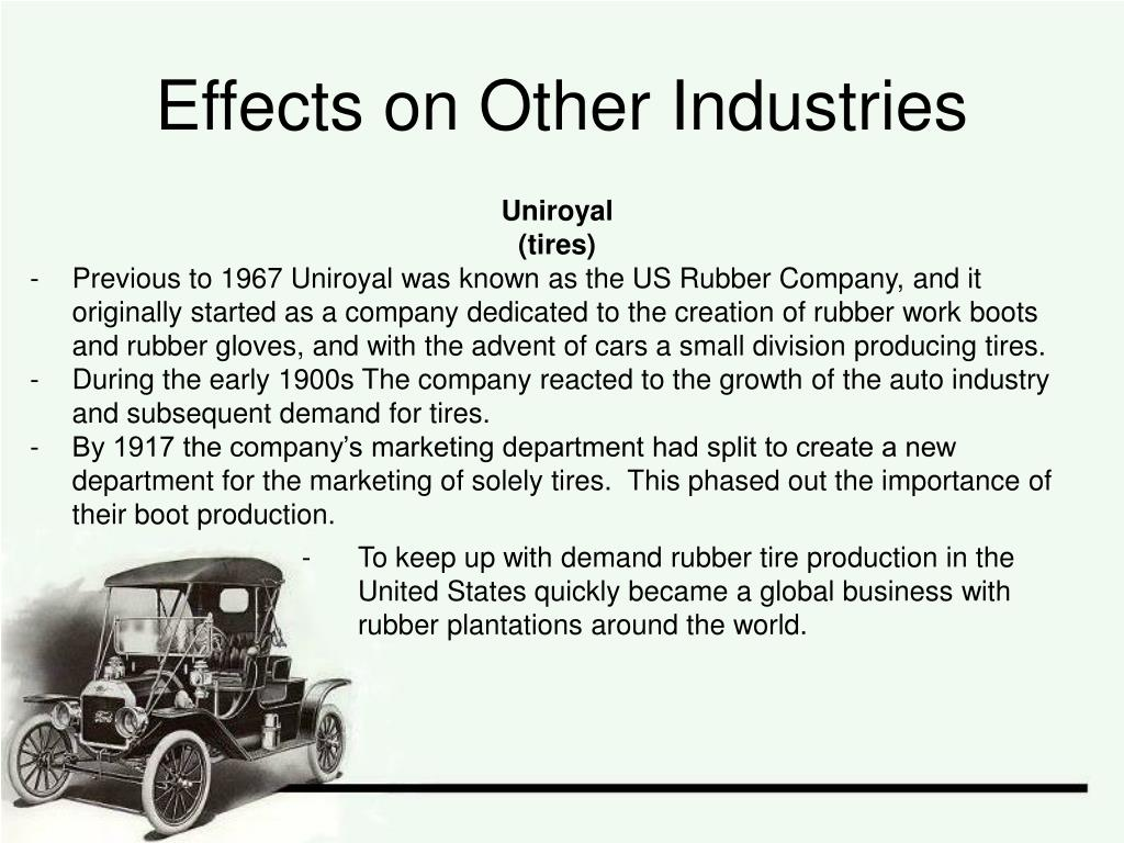 Effects on Other Industries
