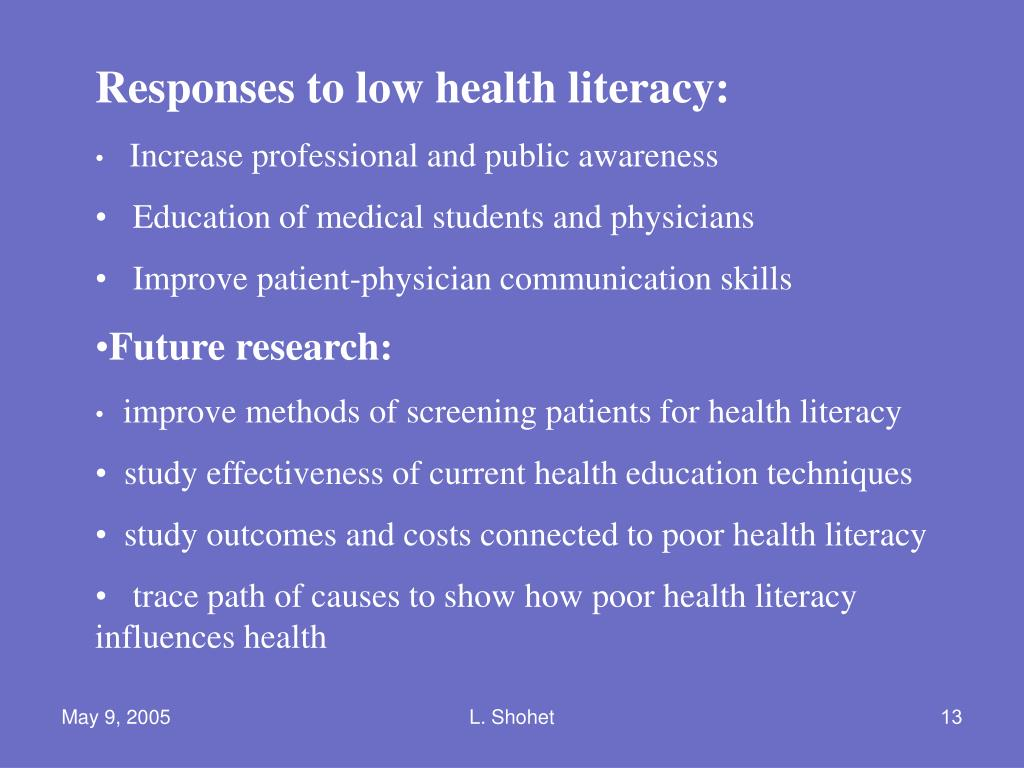 Responses to low health literacy: