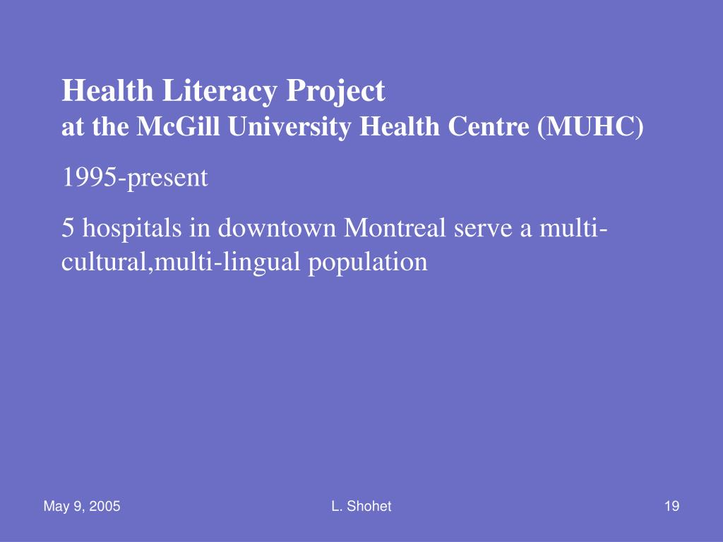 Health Literacy Project