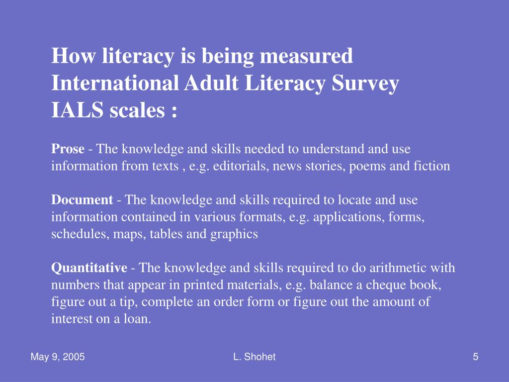 How literacy is being measured
