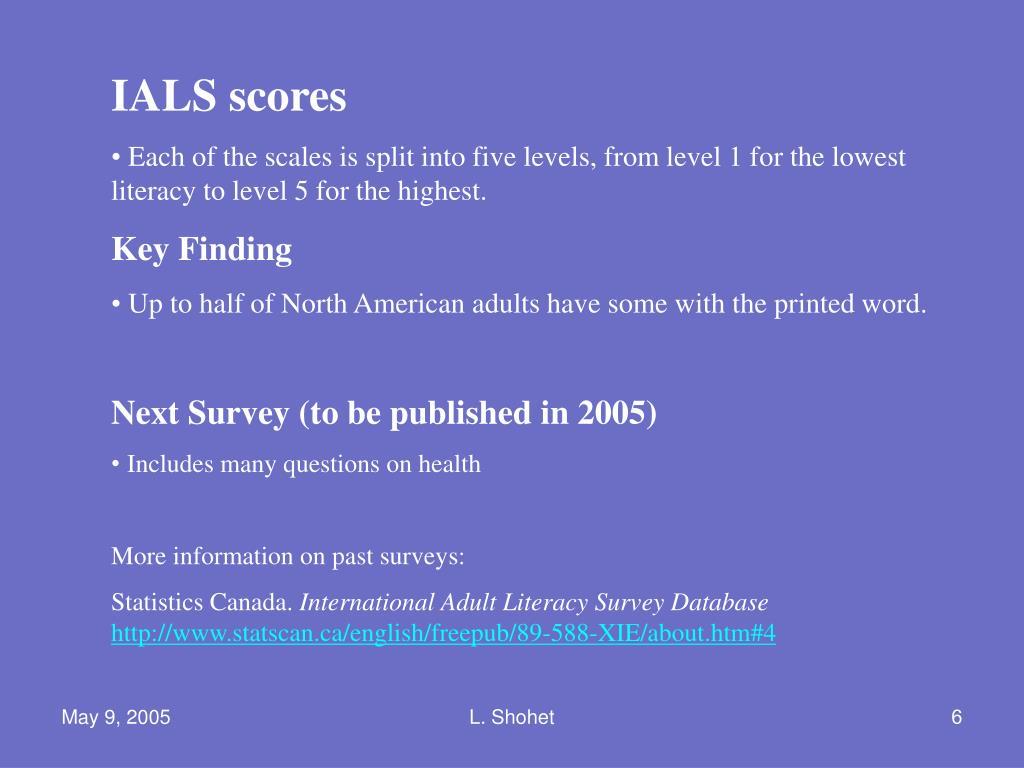 IALS scores