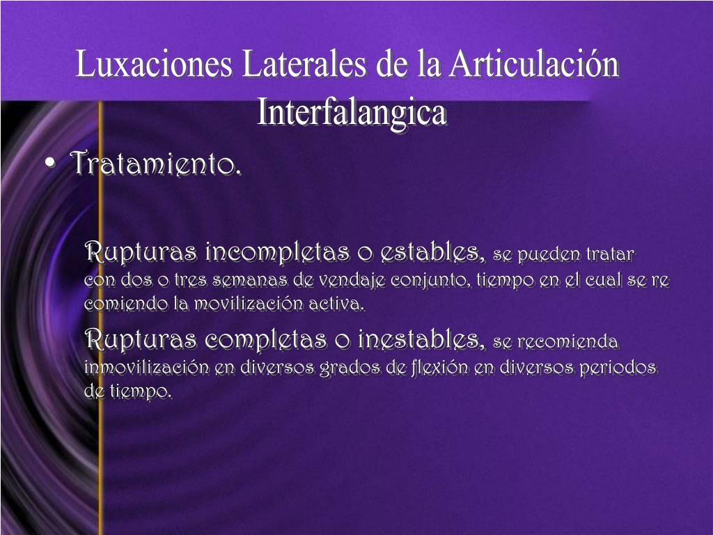 Luxaciones Laterales de la Articulación