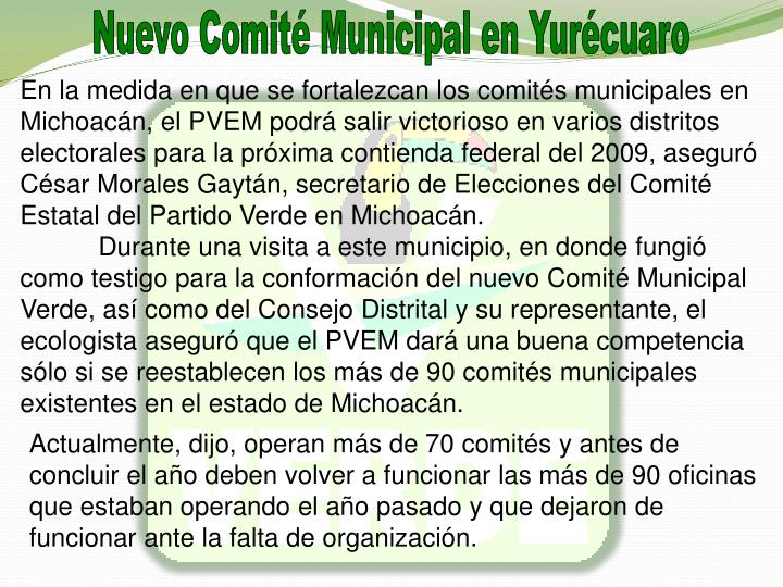 Nuevo Comit Municipal en Yurcuaro