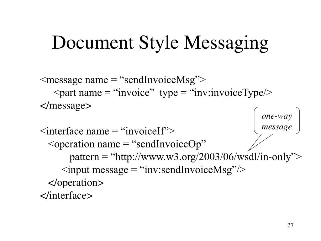 Document Style Messaging