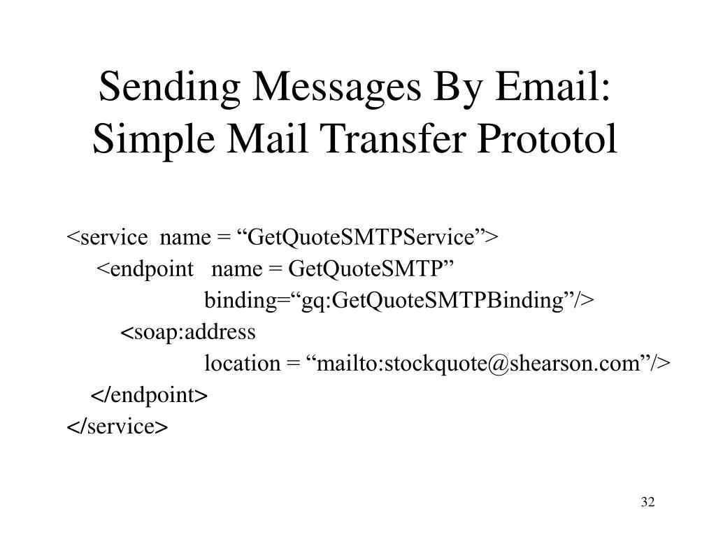 Sending Messages By Email: Simple Mail Transfer Prototol